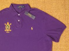POLO RALPH LAUREN  MEN'S  XL  X LARGE  POLO  SHIRT CUSTOM FIT CREST  PONY LOGO #PoloRalphLauren #PoloRugby