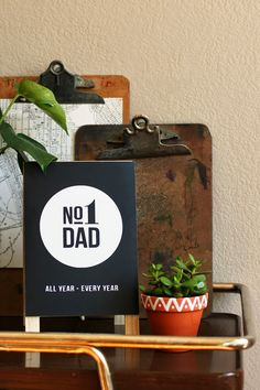 Create a plaque that's perfect for Dad's office :-)