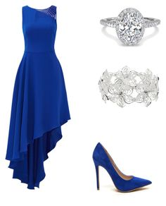 """""""Silver Midnight"""" by rachelsdescription on Polyvore featuring Halston Heritage and M&Co"""