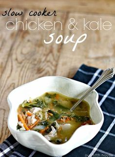 slow cooker chicken & kale soup
