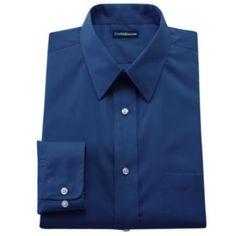 Croft & Barrow Solid Broadcloth Point-Collar Dress Shirt - Big & Tall