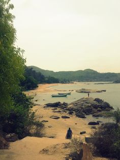 Om beach.  Gokarna, Karnataka, India. This wa the last beach we saw on our 4 day trip to coastal Karnataka. The beach was beautiful but the crowd made it feel unsafe. I would not try to wade into the water on that beach!
