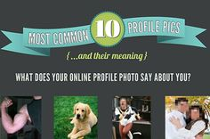 The most popular social media profile pics and what they mean...