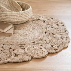 Stair Rods For Carpet Runners Kuta, Jute Crafts, Diy Crafts, Diy Tapis, Deco Cool, Do It Yourself Design, Rope Rug, Cheap Carpet Runners, Boho Designs