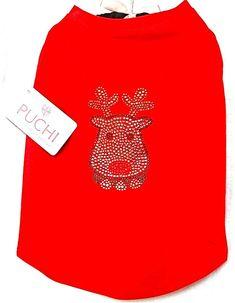 Luv Dogs - Puchi Petwear Rhinestone Rudolf T-shirt, £21.50 (http://www.luvdogs.co.uk/puchi-petwear-rhinestone-rudolf-t-shirt/)