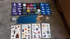 Body Stickers, Washable Paint, Wet Wipe, Kits For Kids, Arts And Crafts Supplies, Halloween Art, Face Art, Face And Body, Brushes
