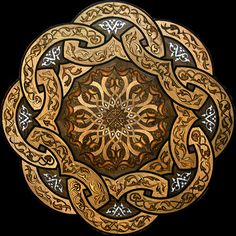 """Imperial Knot"" wood flooring medallion. This medallion features wood &…"