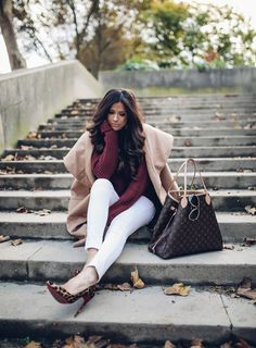The Sweetest Thing: Bordeaux & Camel For Fall