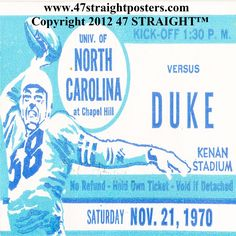 http://www.bestcybermondaygifts.com/ Best Cyber Monday Gifts 2012! Best Cyber Monday gifts for football fans. #bestcybermondaygifts #cybermonday #47straight 1970 North Carolina Football Ticket Coasters™ made from an authentic '70 game ticket. Our vintage football gifts are the best Cyber Monday gifts!