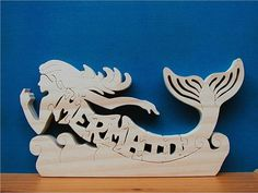Mermaid On Water Wood Puzzle Cut On Scroll Saw