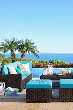 - Best ideas for decoration and makeup - Outdoor Pool, Outdoor Spaces, Outdoor Living, Outdoor Decor, Porches, Beach House Decor, Home Decor, Beach Houses, Coastal Living Rooms