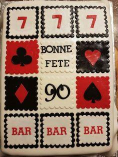 90th birthday cake. Casino theme