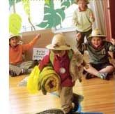 Activities & games for a jungle party! Love the idea to hunt for snakes with flashlights in the dark!