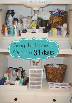 My 31 Days of Decluttering, Organizing and Bringing Order to My Home!