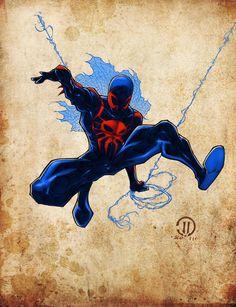 Spiderman2099 Colors by *JoeyVazquez on deviantART