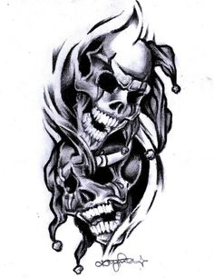 435f4ef84 Aron Jaral-Vera: Smile Now Cry Later Tattoo Design Drawings, Skull Tattoo  Design