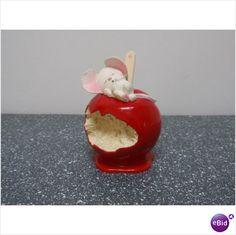 1985 Hallmark Christmas Ornament Candy Apple Mouse