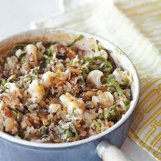 Cauliflower, Onion and Greens Risotto