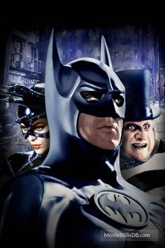 Batman Returns - Promotional art with Michael Keaton, Michelle Pfeiffer & Danny DeVito