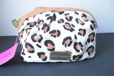 Betsey-Johnson-Leopard-Print-Make-Up-Cosmetic-Case-Bag