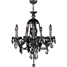 Venetian Italian Style 7 Light Chrome Finish and Black Crystal... (885 SAR) ❤ liked on Polyvore featuring home, lighting, ceiling lights, black, black crystal chandelier, chrome crystal chandelier, black chandelier lighting, chrome light and light bulb chandelier