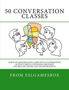 Are you finding these ESL conversation questions useful? Our book 50 Conversation Classes features 50 sets of 10 conversation questions in a handy card-style format ready to be photocopied and cut … Fluency Activities, Grammar Activities, English Activities, Grammar Games, Class Activities, Esl Lessons, English Lessons, Learn English, English Fun