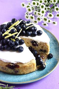 Gluten-Free Vegan Lemon Blueberry Cake