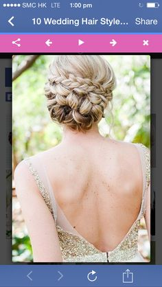 Pleated up do