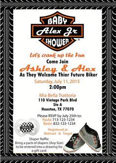 Harley Davidson Babyshower Invite