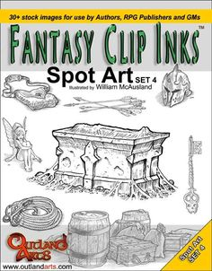 Fantasy Clip Inks:: Spot Art set 4 - Outland Arts | RPGNow.com