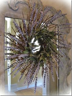A Tutorial: An Easy and Inexpensive Faux Lavender Wreath!