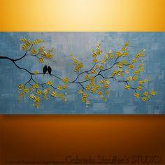 Peintures de fleurs peintures acryliques and orchid es on for Peinture murale acrylique