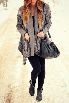 bb, dakota, bw, houndstooth, cardigan