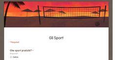 Sondaggio di informatica, realizzato con Google Drive ,per sapere cosa ne pensano le persone che lo sviluppavano, quale fosse il loro sport preferito