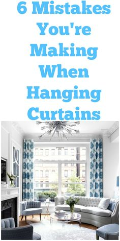 There are definitely some things to note before hanging your window treatments.