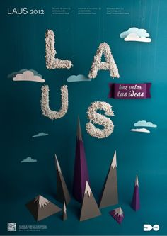 LAUS by Bogidar Mascareñas, via Behance, <3 graphic design, it's the funnest thing you could do for a living