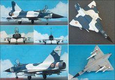 """Dassault-Breguet """"Mirage 2000"""" Kampfflugzeug (Heller 354) 1:72"""