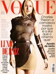 Raquel Zimmermann by Henrique Gendre Vogue Brazil November 2009