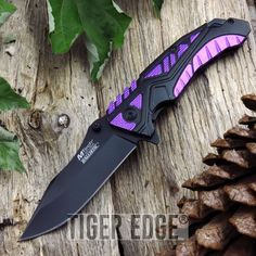 Mtech Linerlock Assisted Open Black/purple Folding Knife Pocket Folder for sale online Best Pocket Knife, Folding Pocket Knife, Folding Knives, Pocket Knives, Knives And Tools, Knives And Swords, Knife Drawing, Dagger Drawing, Knife Patterns