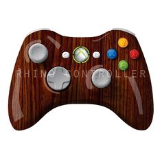 XBOX 360 controller Wireless Glossy WTP-488-Rosewood Custom Painted- Without Mods