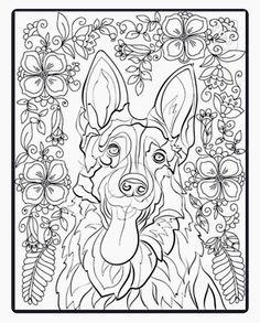 German Shepherd Coloring Page Dog Coloring Book Dog Coloring Page Animal Coloring Pages