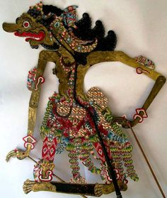 Indonesian or Javanese shadow puppets