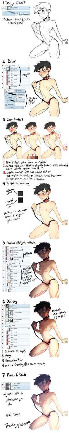 aw yis colored line art tutorial by PixelAnnex