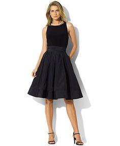 Lauren Ralph Lauren Pleated Cocktail Dress  COVET!  I need this either for our Derby Party or our Gala or both or just because its stunning!