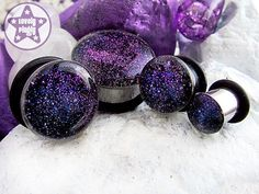 Interstellar Overdrive Blue Purple ONE Plug Only Faux Dichro Galaxy 2g, 0g, 00g / 6mm, 8mm, 10mm on Etsy, $14.20 CAD