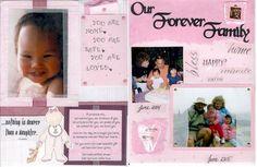 Adoption lifebook page idea