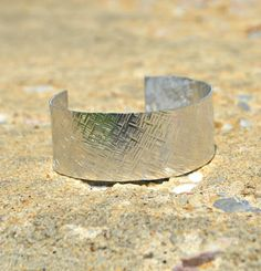 Textured Stamped Cuff - One Artsy Mama