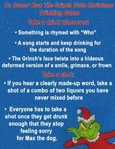 ~Who~ is ready to drink and watch this classic cartoon? 10 Christmas Movie Drinking Games You'll Want To Play This Year Christmas Drinking Games, Movie Drinking Games, Drinking Games For Parties, Christmas Party Games, Xmas Party, Christmas Decorations, Christmas Movie Night, Christmas Vacation, Christmas Fun