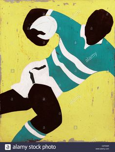 Rugby player running with ball © Andy Bridge / Alamy Rugby League, Rugby Players, Rugby Poster, Illustrations, Illustration Art, Wales Rugby, Rugby Men, Inspirational Artwork, Art For Art Sake