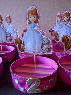 Dulcero simple Princess Sofia Birthday, Sofia The First Birthday Party, Baby Shower Princess, 6th Birthday Parties, Princesa Sophia, Little Mermaid Birthday, Barbie Birthday, Kids Decor, Diy Party